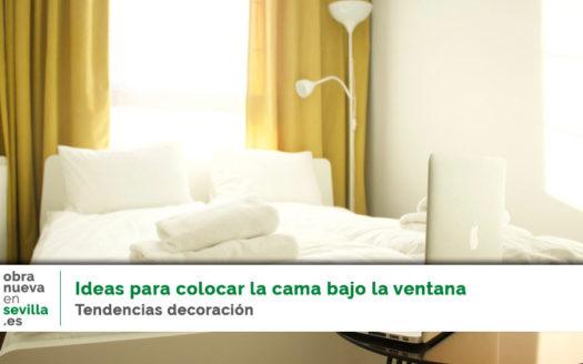 ideas para colocar la cama bajo la ventana