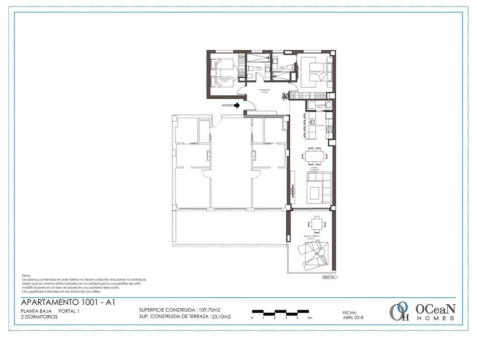 2 Dormitorios planta baja